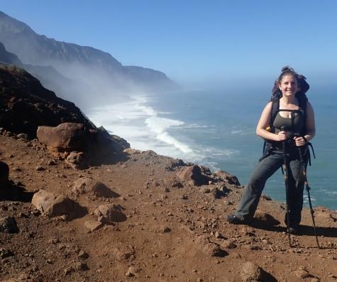 Hiking pose